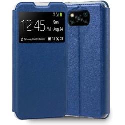 Capa Flip Premium Azul Poco...
