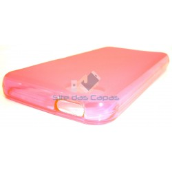 Capa de Gel Rosa Iphone 5...