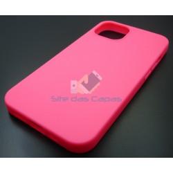 Capa Gel Rosa Iphone 13