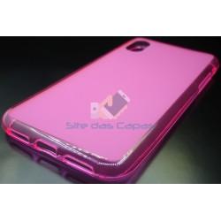 Capa de Gel Rosa Iphone X