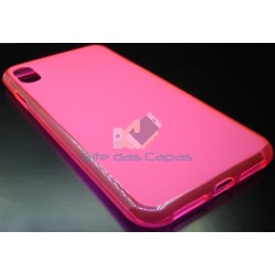 Capa de Gel Rosa Iphone XS Max