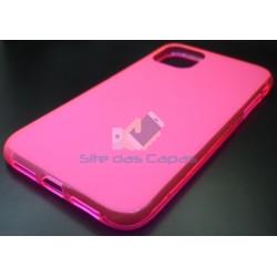 Capa de Gel Rosa Iphone 11