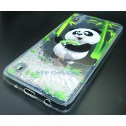 Capa Gel Purpurinas Panda...