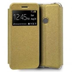 Capa Flip Premium Dourado...