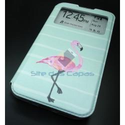 Capa Flip Flamingo Huawei...