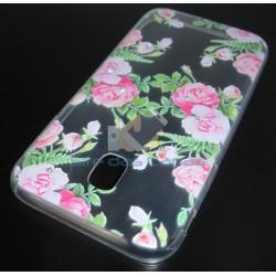 Capa Gel Flores Samsung...