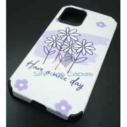 Capa Gel Flores Iphone 12...